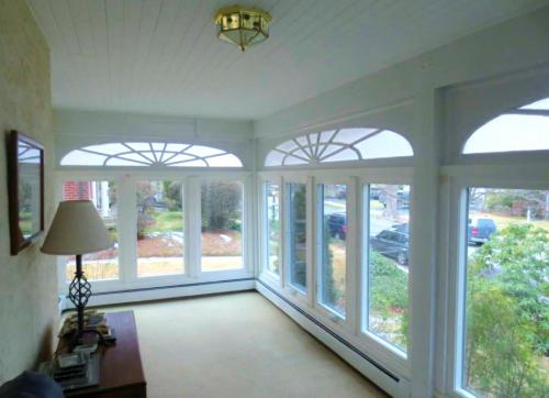 Casement and picture windows with new capping and interior trim 2