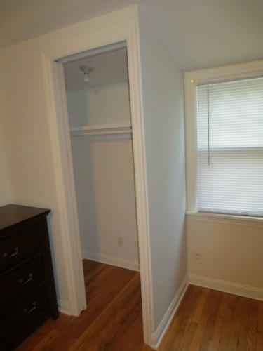 Closet with pocket door 1B